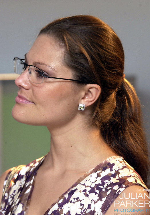 Crown Princess Victoria of Sweden visits the Electrolux Design Centre in Sydney - during her visit taking part in 'Swedish Style in Australia'..