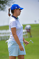 Karine Icher (FRA) watches her putt on 9 during round 2 of  the Volunteers of America Texas Shootout Presented by JTBC, at the Las Colinas Country Club in Irving, Texas, USA. 4/28/2017.<br /> Picture: Golffile | Ken Murray<br /> <br /> <br /> All photo usage must carry mandatory copyright credit (&copy; Golffile | Ken Murray)