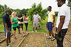 July 12, 2014; YALI Fellows volunteer at Unity Gardens in South Bend.<br /> <br /> (Photo by Barbara Johnston/University of Notre Dame