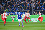 16.03.2019, VELTINS Arena, Gelsenkirchen, Deutschland, GER, 1. FBL, FC Schalke 04 vs. RB Leipzig<br /> <br /> DFL REGULATIONS PROHIBIT ANY USE OF PHOTOGRAPHS AS IMAGE SEQUENCES AND/OR QUASI-VIDEO.<br /> <br /> im Bild Torjubel / Jubel  Leipzig nach 0-1 durch Timo Werner (#11 Leipzig)<br /> <br /> Foto © nordphoto / Kurth