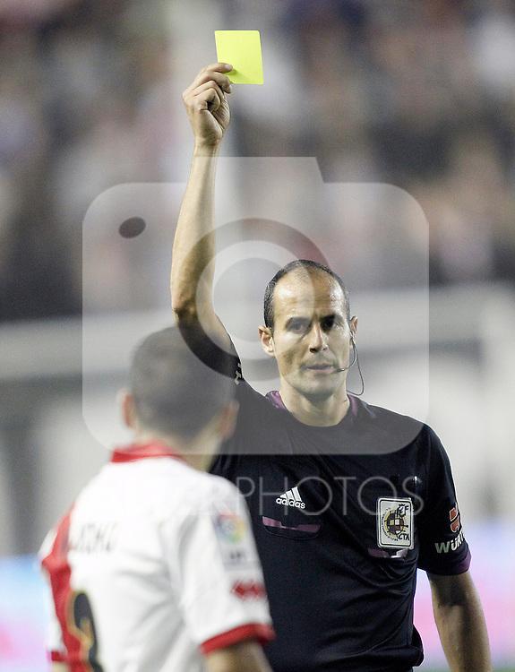 Spanish referee Alfonso Javier Alvarez Izquierdo during La Liga match.November 22,2013. (ALTERPHOTOS/Acero)