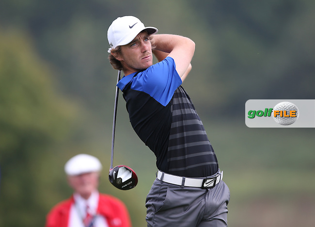 Tommy Fleetwood (ENG) during Round Three of the ISPS Handa Wales Open 2014 from the Celtic Manor Resort, Newport, South Wales. Picture:  David Lloyd / www.golffile.ie