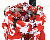 Louise Warren (BU - 28), Dakota Woodworth (BU - 11), Lillian Ribeirinha-Braga (BU - 15), Caroline Campbell (BU - 16), Isabel Menard (BU - 20) - The Boston College Eagles tied the visiting Boston University Terriers 5-5 on Saturday, November 3, 2012, at Kelley Rink in Conte Forum in Chestnut Hill, Massachusetts.