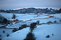 12/12/17<br /> <br /> Cars make their way up an icy hill in Buxton in Derbyshire Peak District.<br />   <br /> All Rights Reserved F Stop Press Ltd. +44 (0)1335 344240 +44 (0)7765 242650  www.fstoppress.com