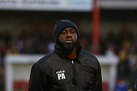Carshalton Athletic player manager Peter Adeniyi during Carshalton Athletic vs Boston United, Emirates FA Cup Football at the War Memorial Sports Ground on 9th November 2019