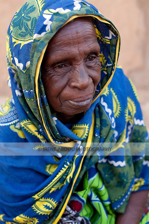 Elderly Fulani woman in Djibo in northern Burkina Faso.