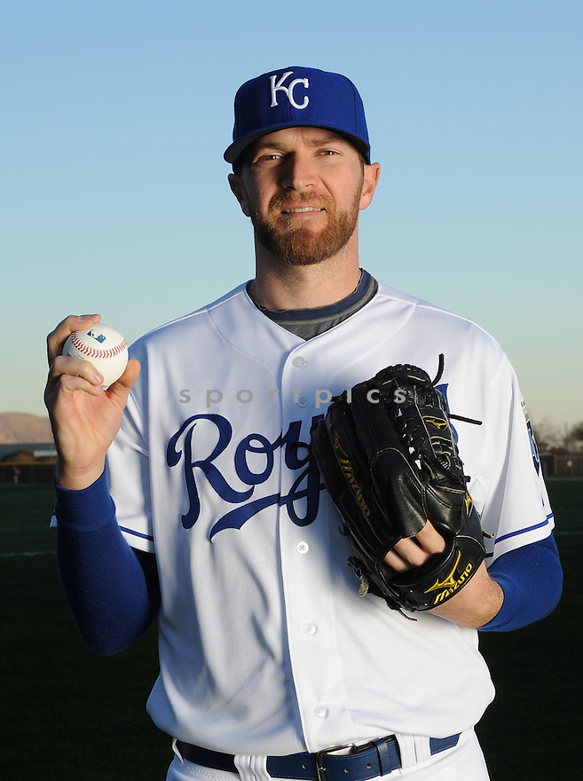 Kansas City Royals Wade Davis (17) at media photo day  during spring training on February 24, 2014 in Surprise, AZ.