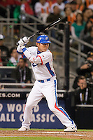 15 March 2009: #26 Kyungoan Park of Korea is seen at bat during the 2009 World Baseball Classic Pool 1 game 2 at Petco Park in San Diego, California, USA. Korea wins 8-2 over Mexico.