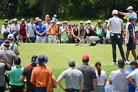 Kevin Na (USA) looks over his putt on 2 during round 4 of the 2019 Charles Schwab Challenge, Colonial Country Club, Ft. Worth, Texas,  USA. 5/26/2019.<br /> Picture: Golffile | Ken Murray<br /> <br /> All photo usage must carry mandatory copyright credit (© Golffile | Ken Murray)