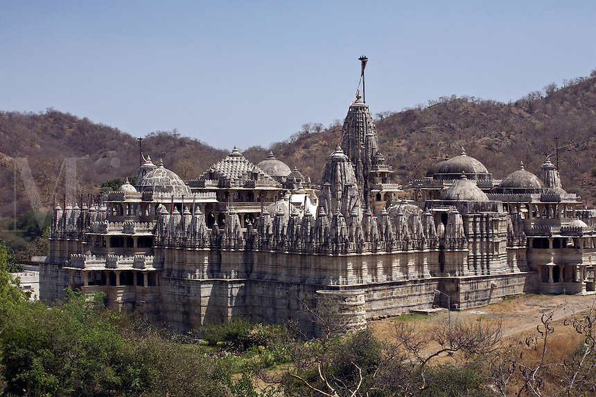 CHAUMUKHA MANDIR TEMPLE at RANAKPUR with 1444 pillars is one of the finest JAIN TEMPLES ever built in the Pali District of RAJASTHAN near Sadri - INDIA