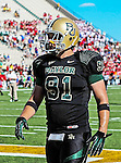 Baylor Bears defensive end Kevin Park (91) in action during the game between the Southern Methodist Mustangs and the Baylor Bears at the Floyd Casey Stadium in Waco, Texas. Baylor defeats SMU 59 to 24.
