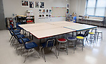 WATERBURY CT. - 31 July 2020-073120SV01-An art room at Maloney Magnet School in Waterbury Friday. Teachers in hands-on instruction areas like art and music have begun to consider making adjustments like these to their usual schedules as schools prepare to return to in-person learning this fall.<br /> Steven Valenti Republican-American