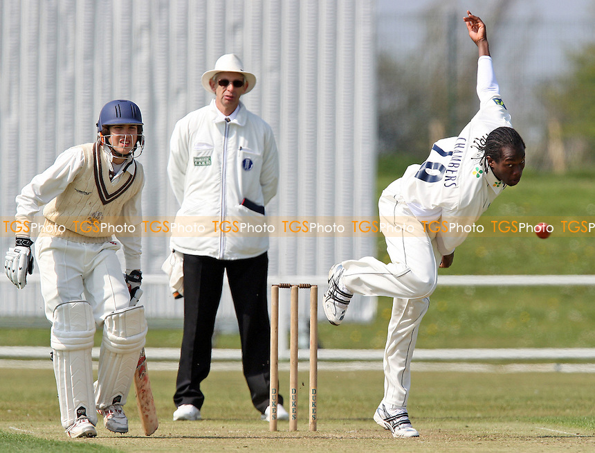 Maurice Chambers of Essex in bowling action - Essex CCC 2nd XI vs Surrey CCC 2nd XI at Garon Park, Southend-on-Sea - 22/04/08 - MANDATORY CREDIT: Gavin Ellis/TGSPHOTO - Self billing applies where appropriate - Tel: 0845 094 6026