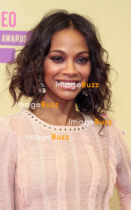 Zoe Saldana, The 2012 MTV Video Music Awards arrivals at Staples Center in Los Angeles, September 6th, 2012.