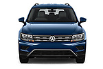 Car photography straight front view of a 2019 Volkswagen Tiguan SE 5 Door SUV