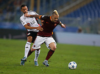 during the Champions League Group E soccer match between As Roma and  Bayer Leverkusen at the Olympic Stadium in Rome, November 04 2015