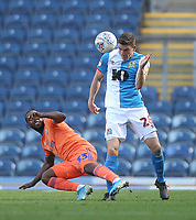 Blackburn Rovers Darragh Lenihan in action with Cardiff City's Junior Hoilett<br /> <br /> Photographer Mick Walker/CameraSport<br /> <br /> The Premier League - Blackburn Rovers v Cardiff City - Saturday August 24th 2019 - Ewood Park - Blackburn<br /> <br /> World Copyright © 2019 CameraSport. All rights reserved. 43 Linden Ave. Countesthorpe. Leicester. England. LE8 5PG - Tel: +44 (0) 116 277 4147 - admin@camerasport.com - www.camerasport.com