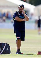Kent coach Matt Walker looks on during the County Championship Division 2 game between Kent and Leicestershire (Day 2) at the St Lawrence ground, Canterbury, on Mon July 23, 2018