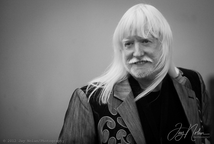 Musician/singer Edgar Winter prior to a show in downtown Clearwater, Florida.