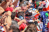 Ducati's Team rider Italian Andrea Dovizioso, winner  the Moto GP Grand Prix at the Mugello race track on June 4, 2017.<br /> Photo by Danilo D'Auria.<br /> <br /> Danilo D'Auria/UK Sports Pics Ltd/Alterphotos /NortePhoto.com
