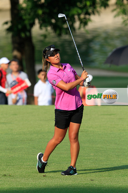 Danielle Kang (USA) on the 1st fairway during Round 4 of the HSBC Women's Champions at the Sentosa Golf Club, The Serapong Course in Singapore on Sunday 8th March 2015.<br /> Picture:  Thos Caffrey / www.golffile.ie