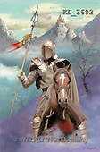 Interlitho, Luis, FANTASY, paintings, knight, horse, KL, KL3692,#fantasy# illustrations, pinturas