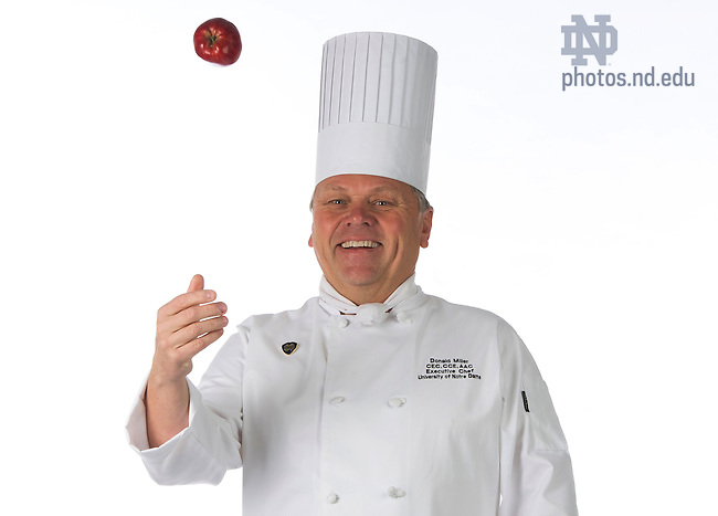 Nov. 5, 2013; Donald Miller, Executive Chef for ND Mag. Photo by Barbara Johnston/University of Notre Dame