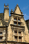 Architectural detail in the town of Sarlat, France