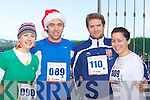 Norma Fleming, Clive, Diarmuid Kerrisk and Kate Coughlan Killarney getting in shape for Christmas at the Puck Warriors Jingle run 10km in Killorglin on Saturday