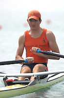 Beijing, CHINA, NED JM1X, Thijs va LUIJK, during the  2007. FISA Junior World Rowing Championships Shunyi Water Sports Complex. Wed. 08.08.2007  [Photo, Peter Spurrier/Intersport-images]..... , Rowing Course, Shun Yi Water Complex, Beijing, CHINA,