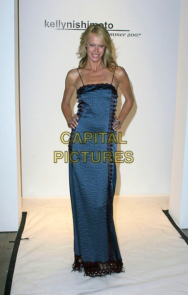 LESA AMOORE.The Mercedes-Benz Spring 2007 L.A. Fashion Week at Smashbox Studios, Los Angeles, California, USA,.19 October 2006..full length blue dress.Ref: ADM/ZL.www.capitalpictures.com.sales@capitalpictures.com.©Zach Lipp/AdMedia/Capital Pictures.