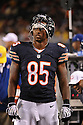 BRANDON VENSON (85), of the Chicago Bears, in action during the Bears preseason game against the Denver Broncos on August 9, 2012 at Soldier Field in Chicago, IL. The Broncos beat the Bears 31-3.