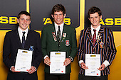 Boys Orienteering finalists Kieran Woods, Ben Reynolds and Fraser McDiarmid. ASB College Sport Young Sportsperson of the Year Awards held at Eden Park, Auckland, on November 24th 2011.
