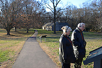 Visitors are seen on the site of the Hermitage Plantation, former U.S. President Andrew Jackson's home, in Nashville, Tennessee on January 4, 2012.