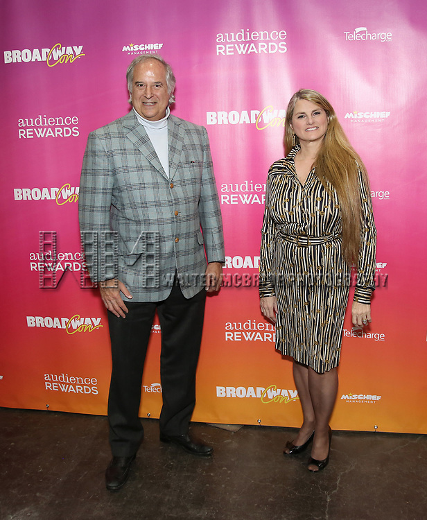 Stewart F. Lane and Bonnie Comley attends the BroadwayHD panel discussion at Broadwaycom 2018 on January 26, 2018 at Jacob Javitz Center in New York City.