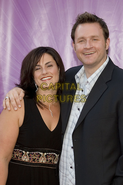 25 July 2005 - Los Angeles, California - Kelly Minner and Ryan Benson.  2005 NBC Network All Star Celebration Arrivals held at the Century Club.  Photo Credit: Zach Lipp/AdMedia