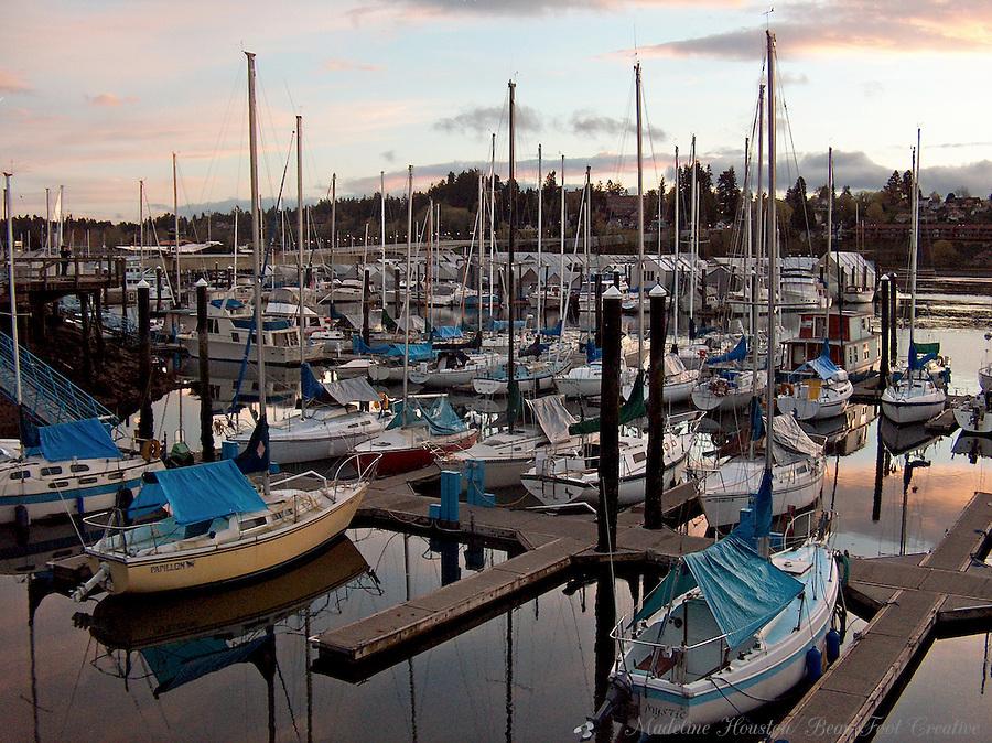 Fiddlehead Marina, Percival Landing, Olympia, Washington, USA