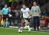 9th October 2017, Cardiff City Stadium, Cardiff, Wales; FIFA World Cup Qualification, Wales versus Republic of Ireland; Harry Arter of Republic of Ireland in action during the match