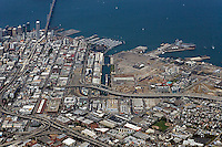 aerial photograph Mission Bay, South Beach, Showplace Square, San Francisco, California
