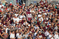 Mississippi State Bulldogs fans before Game 1 of the 2013 Men's College World Series Finals against the UCLA Bruins on June 24, 2013 at TD Ameritrade Park in Omaha, Nebraska. The Bruins defeated the Bulldogs 3-1, taking a 1-0 lead in the best of 3 series. (Andrew Woolley/Four Seam Images)