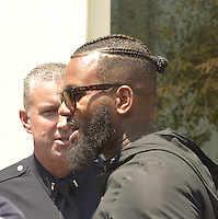 LOS ANGELES, CA - JULY 08: Rapper Game attends the UNITY Protest Mach at the Los Angeles Police Department in Downtown Los Angeles on July 8, 2016 in Los Angeles, California. Credits: Koi Sojer/Snap'N U Photos/MediaPunch