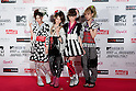 June 23, 2012, Chiba, Japan - Members of SCANDAL pose on the red carpet during the MTV Video Music Awards Japan event. (Photo by Christopher Jue/AFLO)