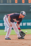 19 March 2015: Atlanta Braves infielder Chris Johnson warms up prior to a Spring Training game against the Miami Marlins at Champion Stadium in the ESPN Wide World of Sports Complex in Kissimmee, Florida. The Braves defeated the Marlins 6-3 in Grapefruit League play. Mandatory Credit: Ed Wolfstein Photo *** RAW (NEF) Image File Available ***