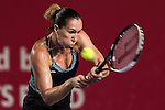 Jelena Jankovic of Serbia vs Daria Gavrilova of Russia during the WTA Prudential Hong Kong Tennis Open at the Victoria Pack Stadium on 16 October 2015 in Hong Kong, China. Photo by Aitor Alcalde / Power Sport Images