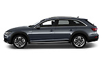 Car driver side profile view of a 2018 Audi A4 allroad quattro base 5 Door Wagon