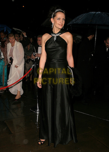 SAFFRON ALDRIDGE.The Orange British Academy Film Awards aftershow & Grosvenor House Hotel, London, UK..February 19th, 2006.Ref: AH.full length black dress.www.capitalpictures.com.sales@capitalpictures.com.© Capital Pictures.