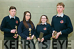 L-r  Sean Griffin, Ciara Anderson, Andrea Hanley and John Crowley at the CAUSEWAY Comprehensive  Annual Awards Night on Thursday