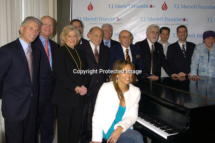 Group Shot wirh Vanessa Williams..at a Luncheon on February 8, 2005 at the Sony Club to announce the kick-off of the upcoming 30th Anniversary gala celebration of the TJ Martell Foundation in May. ..Photo by Robin Platzer, Twin Images