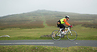 27 SEP 2013 - DARTMOOR, GBR - Paul Parrish reaches the start of Dartmoor, Devon, Great Britain during the bike leg of the Enduroman 2013 Lands End to London to Dover ultra triathlon (PHOTO COPYRIGHT © 2013 NIGEL FARROW, ALL RIGHTS RESERVED)