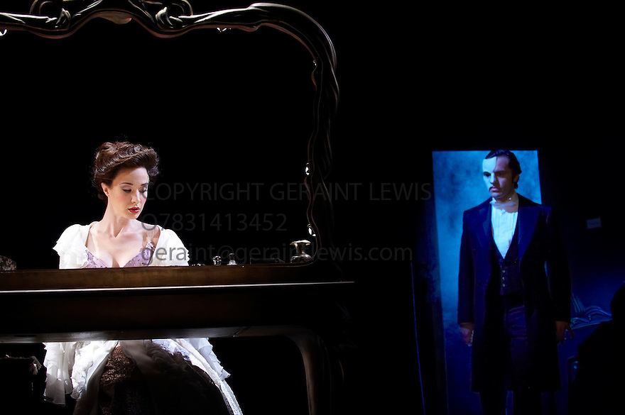 Love Never Dies.Music by Andrew Lloyd Webber,Lyrics by Glenn Slater ,Book by Andrew Lloyd Webber and Ben Elton.Directed by Jack O'Brien,Choreography by Jerry Mitchell. With Sierra Boggess as Christine,Ramin Karimloo as The Phantom.Opens at The Adelphi Theatre on 9/3/10 Credit Geraint Lewis